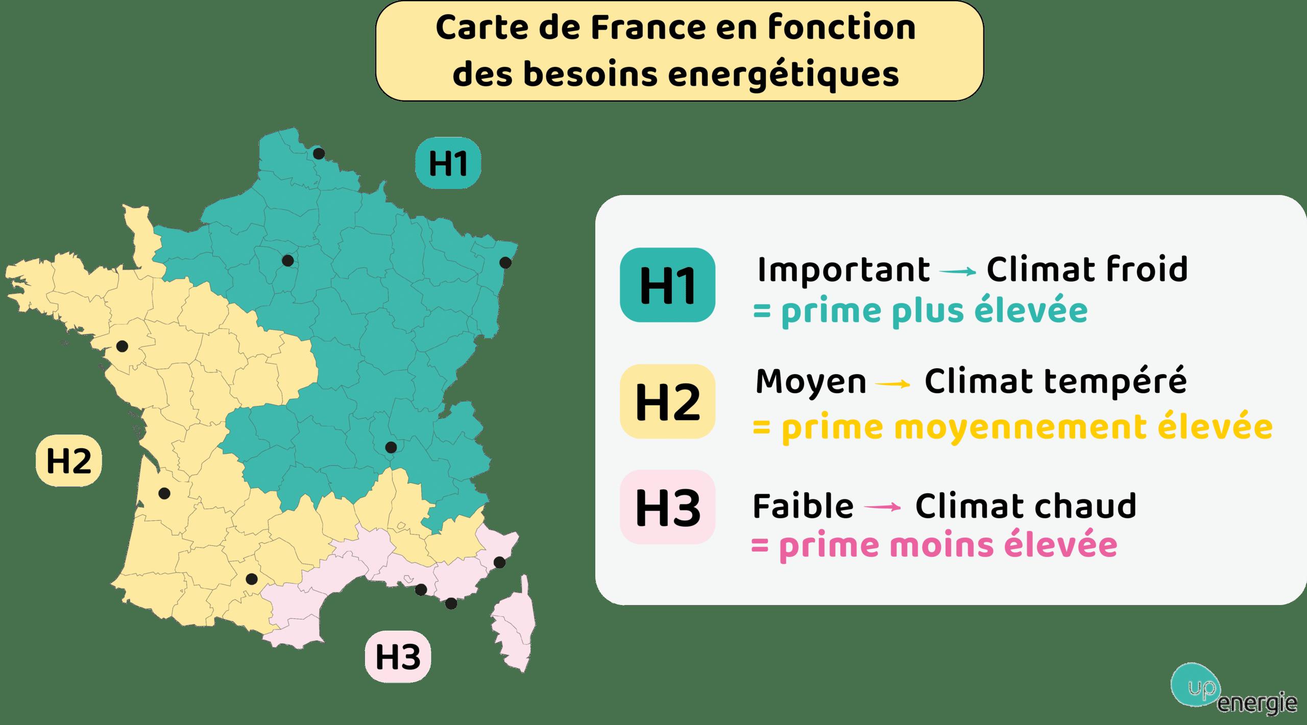 carte des zones climatiques prime energie
